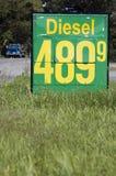 Dieselkraftstoffpreis. Lizenzfreie Stockfotos