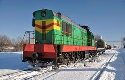 Diesellokomotive. Lizenzfreies Stockfoto