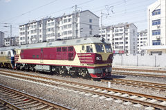 Diesellokomotive Lizenzfreies Stockfoto