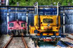Diesellokomotiven stockfotos