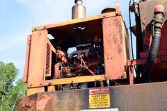 Dieselmotor auf Klotz-Lader Lizenzfreie Stockfotografie
