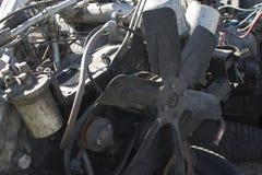 Dieselmotor av inre förbränning, reparationen av bilar och jordbruks- maskineri Royaltyfria Foton