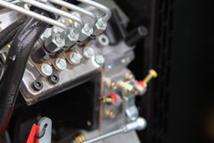 Dieselmotordetail Stock Afbeeldingen