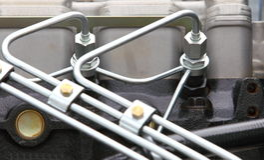 Dieselmotordetail Stock Fotografie