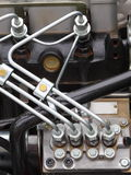 Dieselmotordetail Stock Foto's