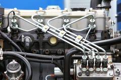 Dieselmotordetail Lizenzfreie Stockfotos