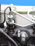 Dieselmotordetail Lizenzfreie Stockbilder