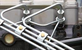 Dieselmotordetalj Arkivbild