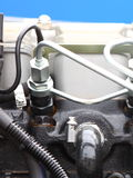 Dieselmotordetalj Royaltyfria Bilder