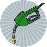 Dieselpumpen-Düse mit Schmieröltropfen Stockfotos