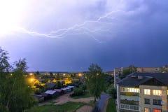 Dieser Blitz über der Stadt Lizenzfreie Stockbilder