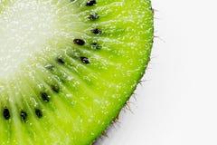 Dieses Bild ist ein Kiwifruit auf weißem Hintergrund Lizenzfreies Stockfoto