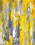 Graue und gelbe Kunst-Malerei Stockbild