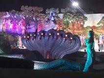 Dieses ist das Foto des Tanzenmonuments Lords Krishna stockbilder