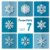 Dieses ist Datei des Formats EPS10 Abbildung kann als Hintergrund benutzt werden Winterschneeflocken von verschiedenen Formen Stockfotos
