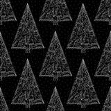 Dieses ist Datei des Formats EPS10 Stilvolle Zusammenfassung Weihnachtsnachtnahtloser Hintergrund Winterurlaubvektorbeschaffenhei Lizenzfreies Stockbild