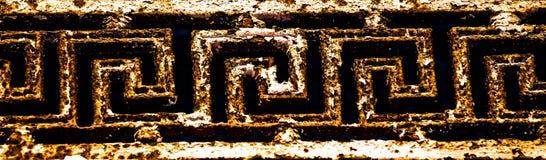 Dieses ist ein wirklich altgriechisches Muster stockfotografie