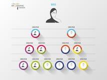 Dieses ist eine 3D übertragene Abbildung Organisationsübersicht Infographic Entwurf Stockfoto