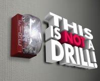 Dieses ist keine Übungs-Feuermelder-Notkrise lizenzfreie abbildung