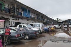 Dieses ist Leben für die meisten Leute in Monrovia Stockbilder