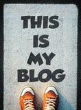 Dieses ist mein Blog Stockfotografie