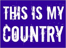 Dieses ist mein Land Vektor USA-amerikanischer Flagge vektor abbildung