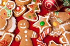 Dieses ist Plätzchen eines Weihnachtsbiskuites Stockbild