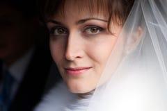 Dieses ist Portrait der schönen Braut stockfotografie