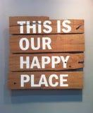 Dieses ist unser glücklicher Platz Lizenzfreies Stockfoto