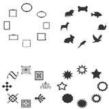 Symbol silhouete im Kreis Stockbilder