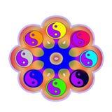 Symbol yin Yang im Muster Stockbilder