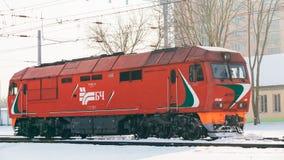 Dieslowska lokomotywa Belarusian kolej Zdjęcie Stock