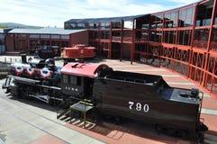 Dieslowska lokomotywa przy Steamtown Krajowym Historycznym miejscem w Scranton, Pennsylwania Fotografia Stock