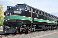 Dieslowska lokomotywa przy Steamtown Krajowym Historycznym miejscem w Scranton, Pennsylwania Fotografia Royalty Free