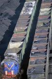 Dieslowska lokomotywa w porcie Zdjęcia Royalty Free