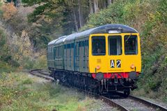 Dieslowski dziedzictwo pociąg przy Llangollen koleją obrazy stock