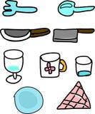 diet вода ленты таблицы стеклянного измерения тарелки установленная Стоковые Фото