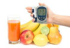Diet принципиальная схема завтрака еды потери веса с померанцем, грушей, яблоком Стоковая Фотография