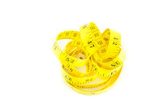 Diet. Measure on a white background Royalty Free Stock Images