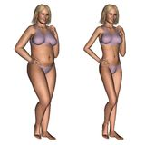 Diet - before and after royalty free illustration