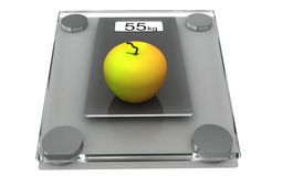 Diet. Healthy lifestyle concept, control of body weight Stock Photos