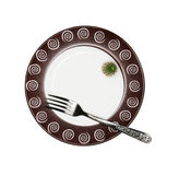 Diet. Fork and a cactus on a plate Stock Images