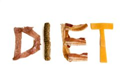 Diet. Protein rich letters Stock Photos