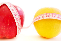 Diet. Measure tape and apple show diet Royalty Free Stock Images