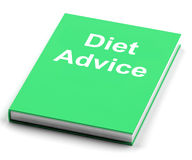 Diet Advice Book  Shows Weight loss Knowledge Royalty Free Stock Image
