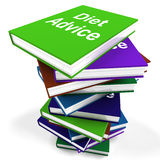 Diet Advice Book Stack Shows Weight loss Knowledge Stock Photo
