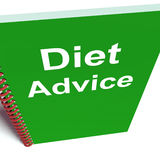 Diet Advice on Notebook Shows Healthy Diets Stock Images