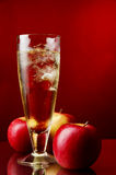 Diet apple icy drink Stock Photo