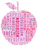 Diet apple info-text Royalty Free Stock Images