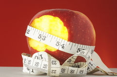 Diet Apple and Meter Royalty Free Stock Photography